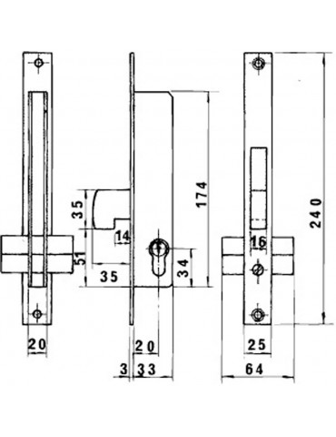 Cerradura Lince 5124A-BO/...